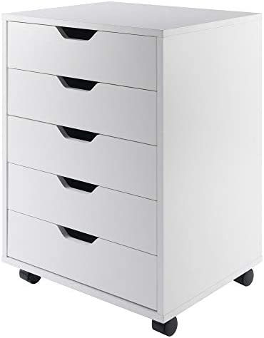 Winsome Wood Halifax Cabinet for Closet/Office, 5 Drawers, White