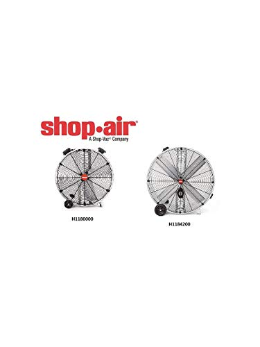 Shop-Vac 1184200 48-Inch 3/4-HP Galvanized Belt Drive Industrial Drum Fan - Galvanized Belt Drive Fan