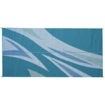 This Item Patio Mats 071 8u0027 X 20u0027 Green/Blue Flare Reversible Patio Mat