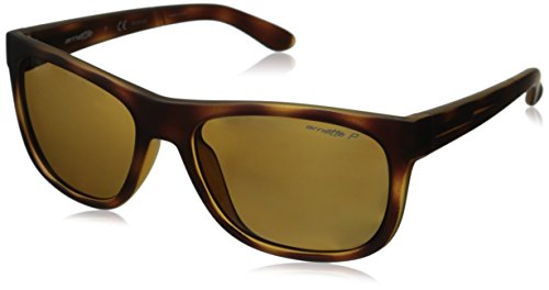 Arnette Firedrill Lite AN4206-04 Polarized Rectangular Sunglasses, Brown, 55 - Arnet Sunglasses