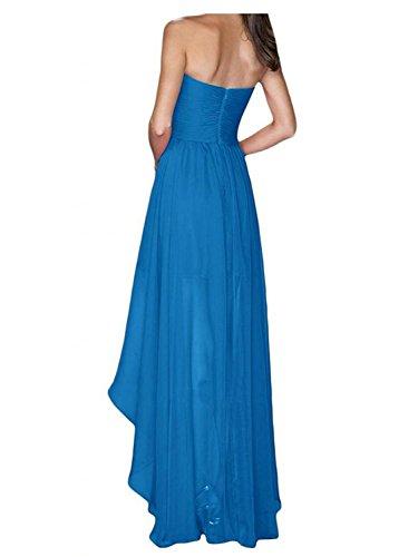 Cocktailkleid Hoch Jade Chiffon Kleid Niedrig JAEDEN Abendkleid Brautjungfernkleider Partykleid 7q6nY