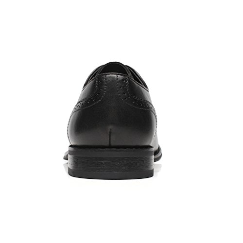 La Milano Mens Leather and Suede Two Tone Wingtip Oxford Dress Shoes