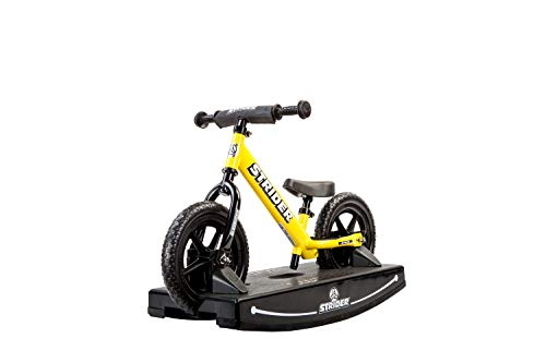 Strider - 12 Sport Baby Bundle with Balance Bike and Rocking Base, Ages 6 Months to 5 Years, Yellow -  PROCK-ST-S4YE