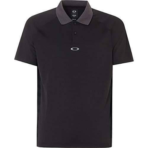 Oakley Men's Polo Shirt Ss Back Striped, Blackout XXXL