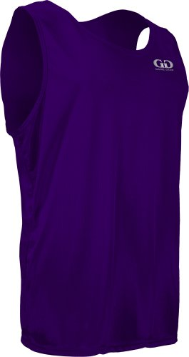 MM930 Men's Solid Color Single Ply Practice Micro Mesh Basketball Jersey (Small, Purple)