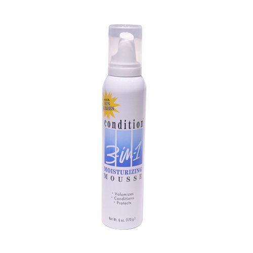 Moisturizing Mousse - Condition 3-N-1 Mousse 6 Ounce Moisturizing With Sunscreen (177ml)