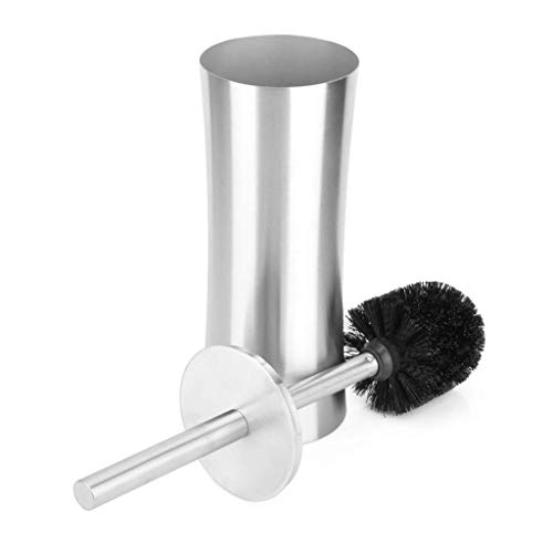 SunXue Shelves Toilet Brush, Stainless Steel Matt Thickening Toilet Brush and Holder, Rust-Resistant Easy to Clean Scrubber Bathroom Supplies
