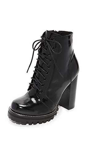 Jeffrey Campbell Women's Legion Lace Up High Heel Booties, Black Box, 7.5 M US