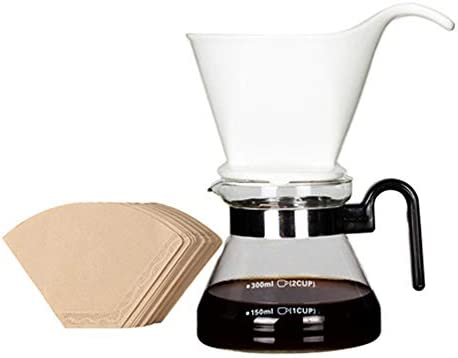 Cafetera lavada a mano con filtro de cerámica, cafetera de vidrio ...