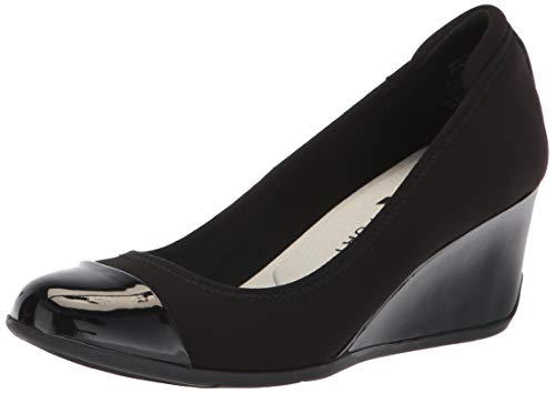 Anne Klein AK Sport Women's Taite Wedge Pump, Black, 8.5 M - Women Pumps Wedge Black