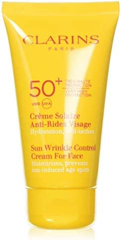 Clarins Sunscreen for Face Wrinkle Control Cream SPF 50+, 75 ml/2.6 Ounce