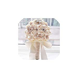 FAT BIG CAT ovia in Stock Stunning Wedding Flowers White Bridesmaid Bridal Bouquets Artificial Rose Wedding Bouquet FW139 106