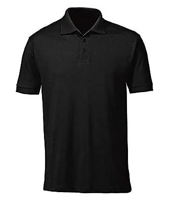 SASH Premium Quality Men's Polo T-Shirts from (Small, Black)