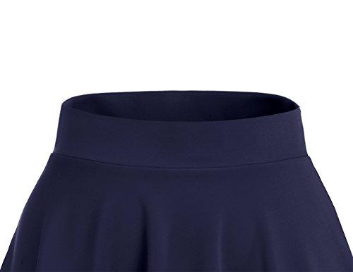midi Dresstells vase Mini Jupe en Courte Navy Polyester 0qw0U