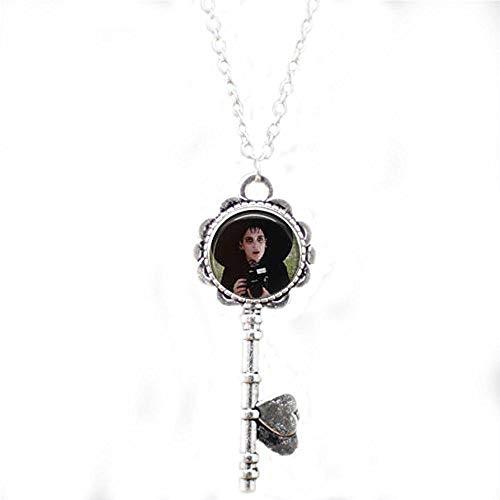 Beetlejuice & Lydia Movie Key Necklace