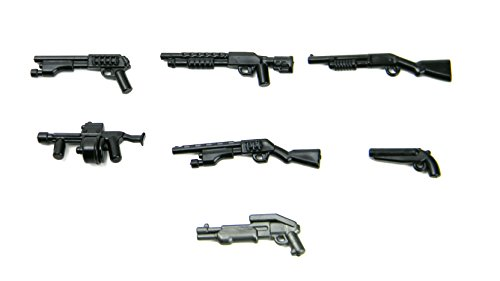 Custom 12 Gauge Shotgun Pack (P13) Designed for Brick Minifigures