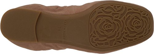 Taryn Rose Womens Rosalyn Balletto Piatto Morbido Camoscio Beige