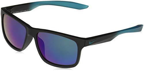 (Nike EV0998-003 Chaser M Frame Grey with Green Flash Lens Sunglasses, Matte Black/Green Gradient )