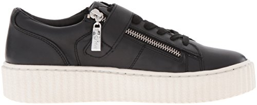 J Slides Women's Papper Fashion Sneaker Black Leather lfW21