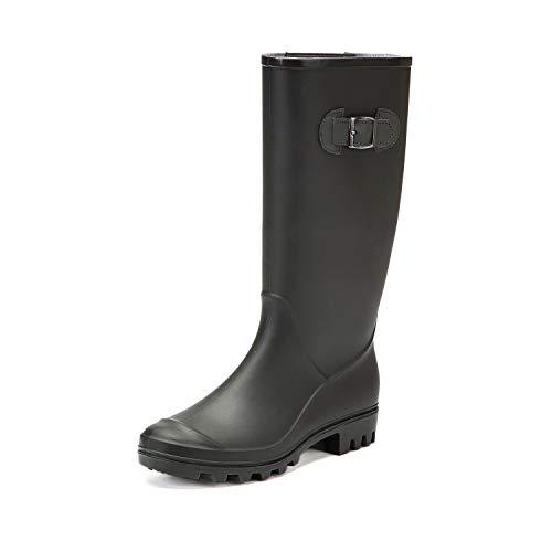 DKSUKO Rain Boots for Women Waterproof Elastic...