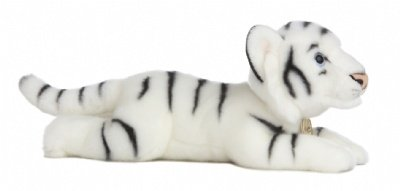 Aurora World Miyoni 165 Inches Stuffed White Tiger by Aurora World