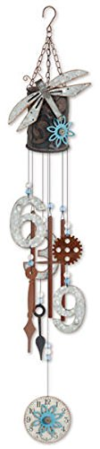 Sunset Vista Designs Found Art Style Dragonfly Wind Chime...
