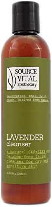 Source Vitál Apothecary | Lavender Cleanser | Natural and Gentle Face Wash to Promote Healthy, Calm, Vibrant Skin - Best for Dry & Delicate/Sensitive Skin Types | 8.39 fl. oz.
