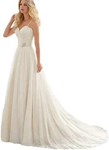 507cc8c83 Yi Dao Spaghetti Strap Wedding Dress Bling Sequins Beaded Applique Bridal  Gown