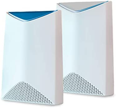 NETGEAR Orbi Pro Tri-Band Mesh WiFi System (SRK60) -- Router & Extender Replacement covers as much as 5,000 sq. feet., 2 Pack, 3Gbps Speed Router & 1 Satellite