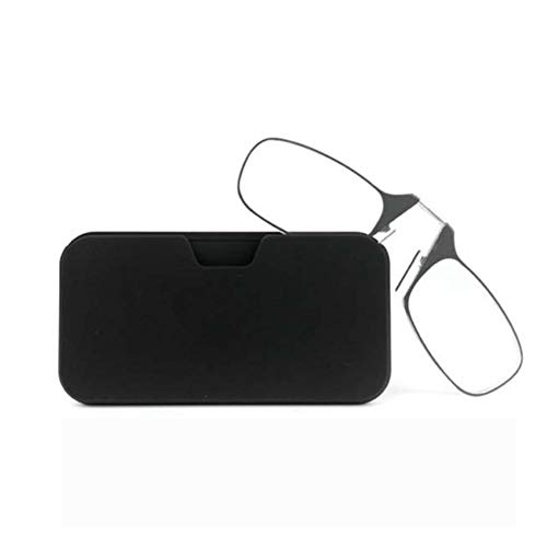 (Reading Glasses for Men and Women, Nose Clip Type Armless Reading Glasses,Ultra-Thin Glasses Older People to Read and Write Mini Portable Reading Glasses That Can Be Attached to A Mobile)