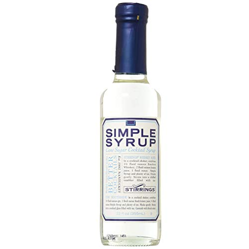 - Stirrings Pure Cane Simple Syrup Cocktail Mixer, 12 ounce bottle | Pack of (1) |