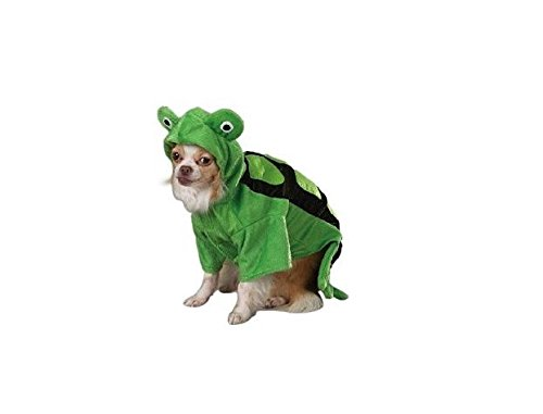 Dog Costume Closeout xLarge Turtle Reptile Outfit Green 3D Plush Shell Eyes