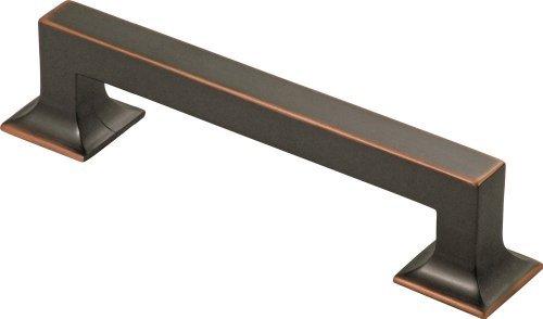 - Studio Pull Handle Finish: Oil-Rubbed Bronze, Size: 5.03