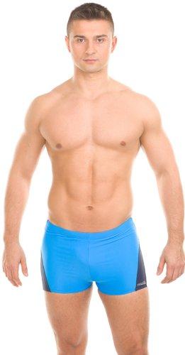 Aqua-Speed–Maillot de bain pour homme–Perfect Fit Alex 399(Bleu/Bleu foncé/blanc, XXL)