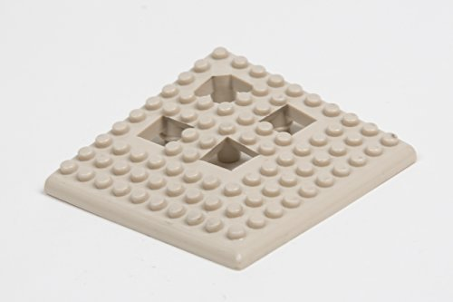 Dri-Dek - 2x12 Edges & 2x2 Corners - Flexible Patio, Lanai, Balcony, Basement & Pool Deck Flooring Beveled Ramps (2x2 Dri-Dek Corner - 4-Pack, Almond)