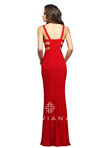 faviana red prom dress - 1