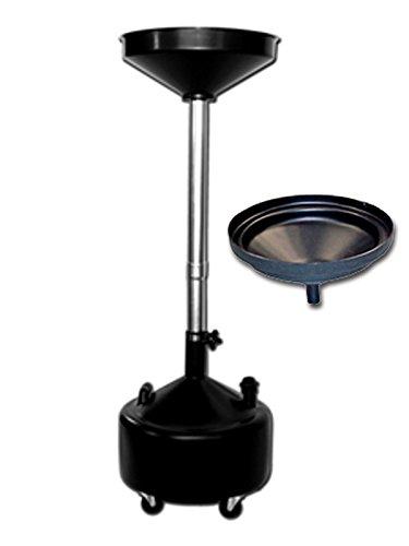 (Poly Funnel and Dannmar 8-Gallon Upright Portable Oil Drain)