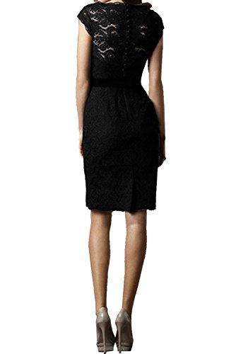 Abendkleider Damen Brautjungfernkleider Festkleid Spitze Ivydressing Kurz Rundkragen Etui Dunkelblau 0E7WFdwdq