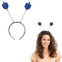 Amscan Joyous Menorah Celebration Hanukkah Glitter Head Bopper (1 Piece), One Size, Blue