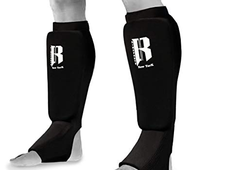 RIMSports Muay Thai Shin Guards - Premium MMA Shin Guards and Shin Pads - Ideal Shin Guard for MMA, Wrestling, Sparring, Muay Thai, Kickboxing & Karate
