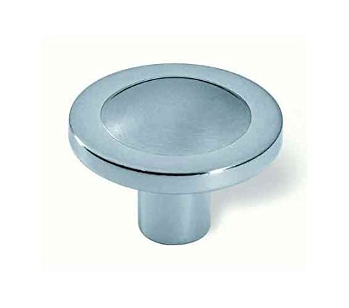 Italian Line Design Q Knob 35 mm. Dia. (Set of 10) (Matte Aluminum)