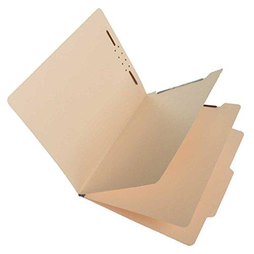 (SJ Paper S59700 Match 15 Pt. Manila Classification Folders, 2/5 Cut ROC Top Tab, Letter Size, 2 Dividers (Box of 25))