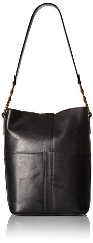 FRYE Black Bag Bucket Ilana Harness Hobo Leather 0qY0r