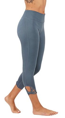 5StarsLine Yoga Leggings Workout Pants With Webbed Straps Detailing On Sides and Hidden Key Pocket Running (S USA 0-2, 5S566\Lt.T.Blue)