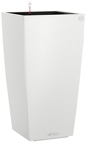 Lechuza Cubico Color 40 Planter, White Matte by Lechuza