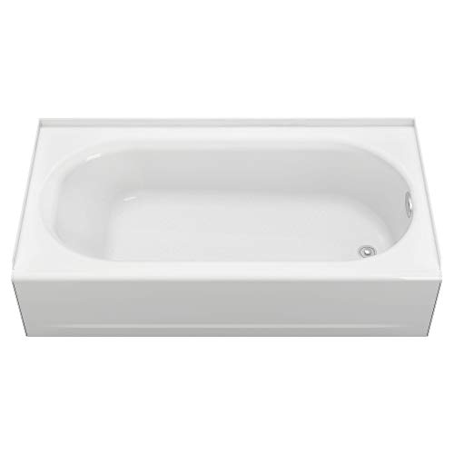 2395202ICH.020 Princeton Recess 5-Feet Right-Hand Drain Americast Bath Tub with Integral Overflow, White