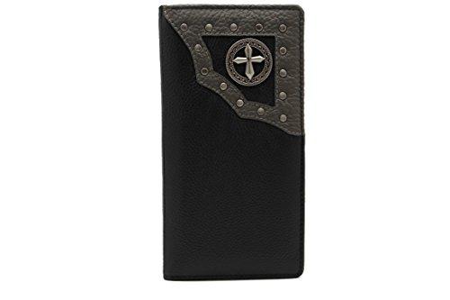 JTC5152 6 Leather Trucker Checkbook Wallet