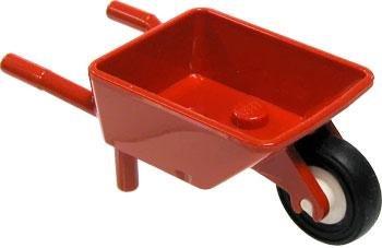 Lego~ Mini Figure Accessory~ red wheelbarrow. Wheelbarrow only, no contents. (Accessory Wheelbarrow)