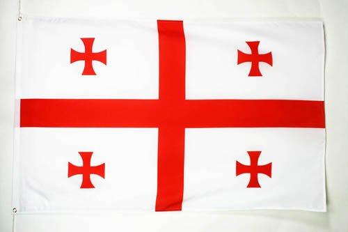 GEORGIA FLAG 3' x 5' - GEORGIAN FLAGS 90 x 150 cm - BANNER 3x5 ft - AZ FLAG