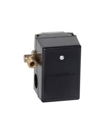 Midwest Control 69JF8Y Hubbell Pressure Switch, with Unloader, 115-150 psi, 1